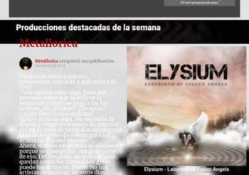 Metallorica- ELYSIUM best album of the week in BRASIL